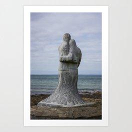 Vigil Sculpture by Ciaran O'Brien on the Memorial Trail at Kilmore Quay. Art Print