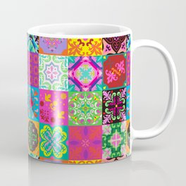 Bohemian Jungle Quilt Tiles Coffee Mug