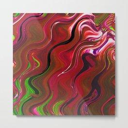 Red fluid Metal Print