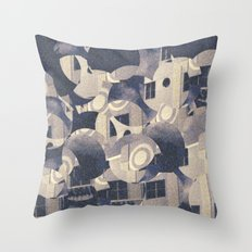 Futurist Miami Beach Throw Pillow