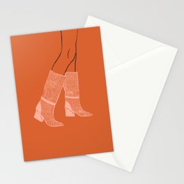 Pink Boots Stationery Cards