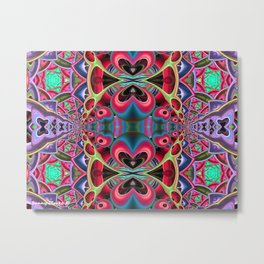 Butterflies and Hearts Metal Print