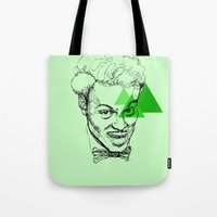 chuck Tote Bags featuring Chuck Berry by mr.defeo