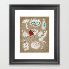 Things you'll find in Wonderland Framed Art Print
