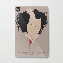 The Bloody Barber Metal Print