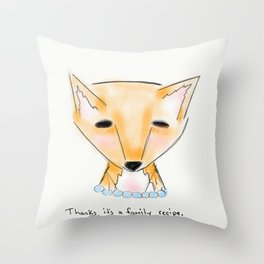 ms fox Throw Pillow
