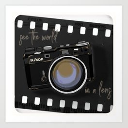 Camera Vintage: see the world in a lens Art Print