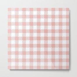 Plaid Pattern 512 Dusty Rose Metal Print