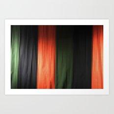Janese kabuki drop curtain ~doncho~ Art Print