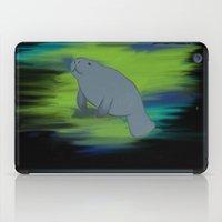 manatee iPad Cases featuring manatee by 💐JadeRose