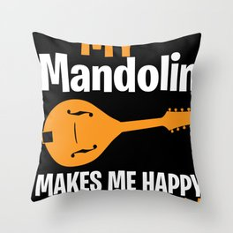 Mandolin luck instrument playing musician Throw Pillow