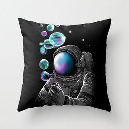 Astro Bubbles Throw Pillow