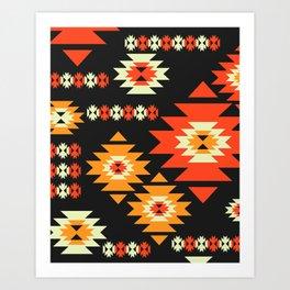 Native geometric shapes Art Print