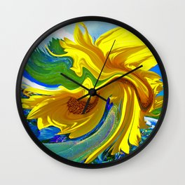 Sunflower Swirl Wall Clock