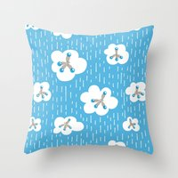Methane Molecules And The Greenhouse Effect Throw Pillow