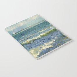 Seascape near Les Saintes-Maries-de-la-Mer Notebook