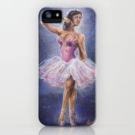 Repainted Ballerina in Spotlight iPhone Case