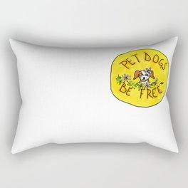 pet dogs, be free Rectangular Pillow