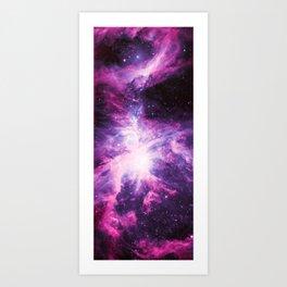 Pink Violet Purple Orion Nebula Art Print