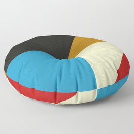 Mid Century Geometric A Floor Pillow