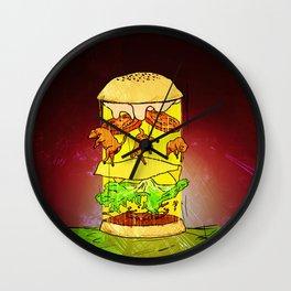 UFO Burger Wall Clock