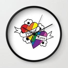 Protect Love LGBTQ Wall Clock
