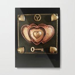 Steampunk Valentine Metal Print