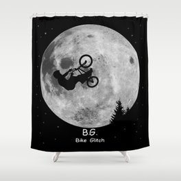 GTA Bike Glitch Shower Curtain