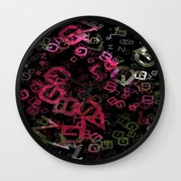 Crape Myrtle Letters 3 Wall Clock