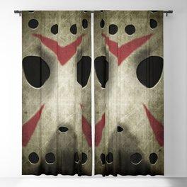 Slasher Hockey Mask Blackout Curtain
