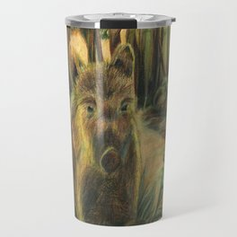 Wild pig in the wood Travel Mug