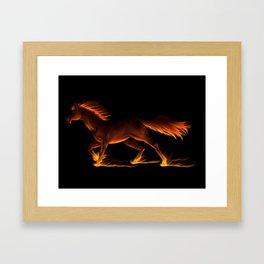 Fire Trail Horse Framed Art Print