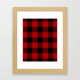 Red Buffalo Check Plaid Framed Art Print