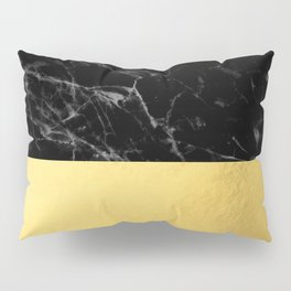 Black Marble & Gold Pillow Sham