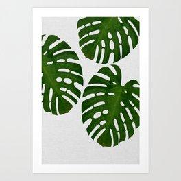 Monstera Leaf III Art Print