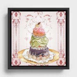 Budapest Pastry Shop Framed Canvas