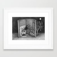 shadow Framed Art Prints featuring Shadow by indivisualplay