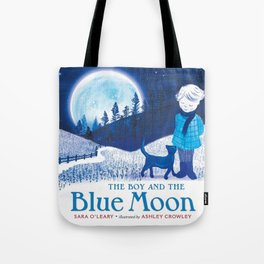 The Boy and the Blue Moon Tote Bag