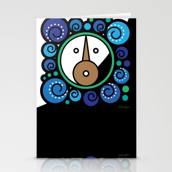 Blue Child - Niño Azul Stationery Cards by Fridalarios CRD6880260