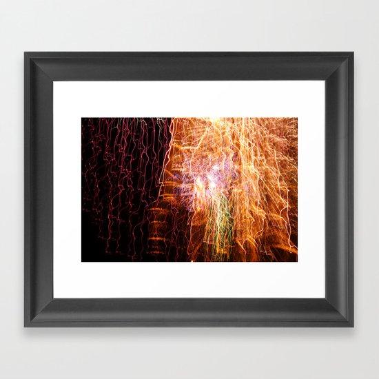 Waterfall of light Framed Art Print