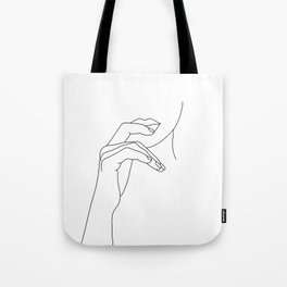 Hands line drawing illustration - Grace Tote Bag