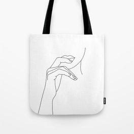 Hands line drawing illustration - Grace Tote Bag