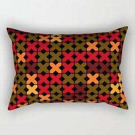 An abstract geometric pattern . Rustic . Rectangular Pillow