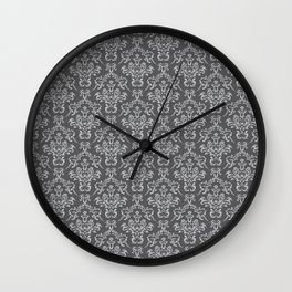 Demask leggings | Gothic decor | Goth girl | Romantic goth Wall Clock