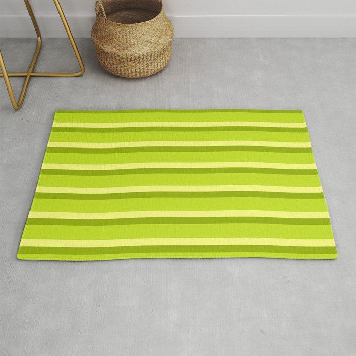 Lime Green Stripes Rug