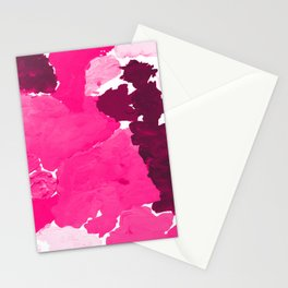 Saria - abstract painting pink magenta blush pastel dorm college girly trend canvas art Stationery Cards