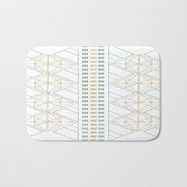 Gold Aqua Geometric Pattern 1.0 Bath Mat
