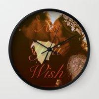 "princess bride Wall Clocks featuring As You Wish (""The Princess Bride"" 1987) by Woah Jonny"