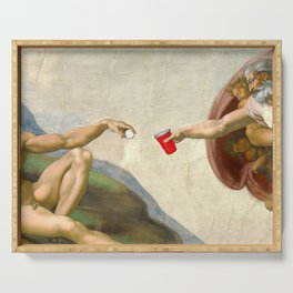 Sistine of Beer Pong Serving Tray