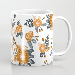 Texas orange and white university texans longhorns college football sports florals Coffee Mug
